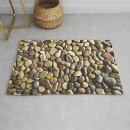 Wall pebble pattern Rug