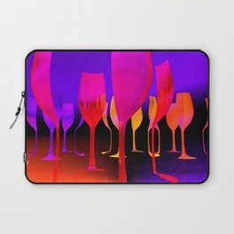 parts of wineglasses Laptop Sleeve