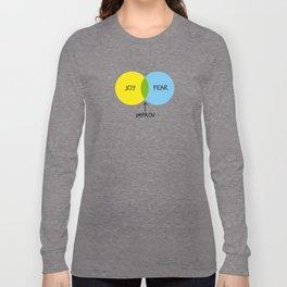 The Venn of Improv (Yellow/Blue) Long Sleeve T-shirt