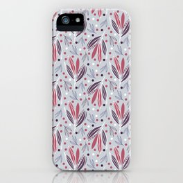Hedgerow in grey iPhone Case