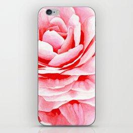 Watercolor Pink Camellia iPhone Skin