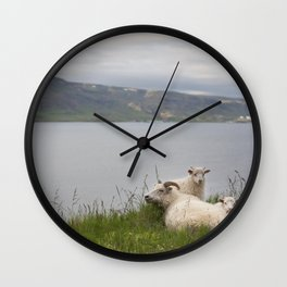 Icelandic sheeps #2 Wall Clock