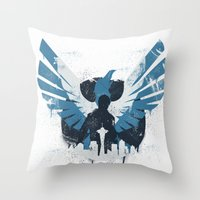 hero Throw Pillows featuring Hero by Pixel Design