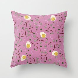 Eastern European Food/ Cold Beet Soup Throw Pillow