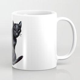 the black cat Coffee Mug