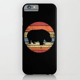 Hippo Retro iPhone Case