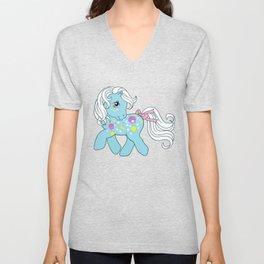 g1 my little pony Night Glider Unisex V-Neck