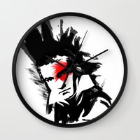 beethoven Wall Clocks featuring Beethoven Punk by viva la revolucion