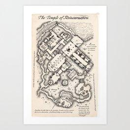 The Temple of Reincarnation Art Print