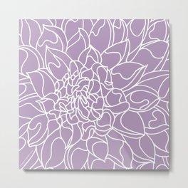 Chrysanthemum Lavender Collection Metal Print