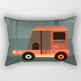 Car in the forest Rectangular Pillow