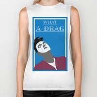 the smiths Biker Tanks featuring What a drag (The Smiths) by Trendy Youth