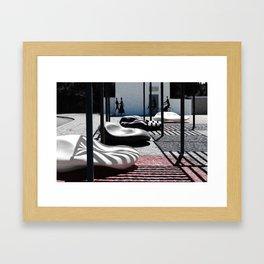 les ombres Framed Art Print