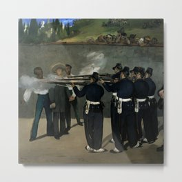 "Édouard Manet ""The Execution of the Emperor Maximillian"" Metal Print"