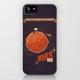 Mars colonization project iPhone Case