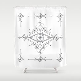 Wild Eye - Day Shower Curtain