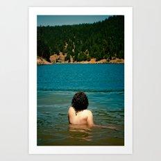 Le Lady Lake II Art Print