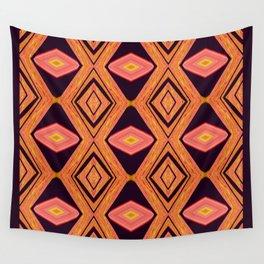 Orange Diamonds Wall Tapestry