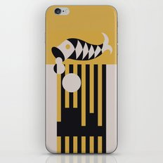 Art Deco Bird & Fish - Hemingway iPhone Skin