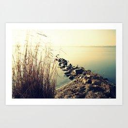 stones in calm 2 Art Print