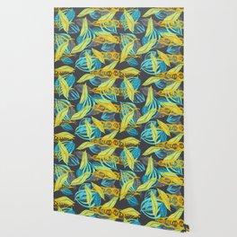 Leaves floating Wallpaper
