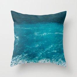 Amalfi Coast Water Throw Pillow