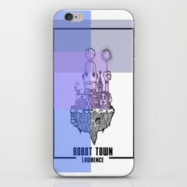 Robot Town color iPhone Skin