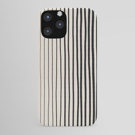 Black Vertical Lines iPhone Case