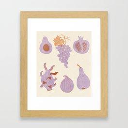 Fruits poster Framed Art Print