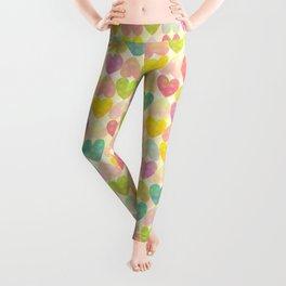 Colorful Sweet Candy Heart Pattern II Leggings