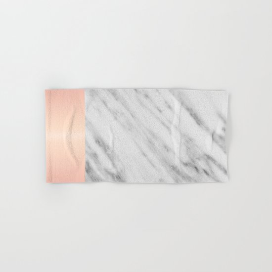 Real Italian Marble and Pink Hand & Bath Towel
