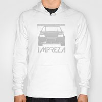 subaru Hoodies featuring Subaru Impreza - silver - by Vehicle