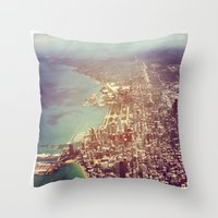 chicago Throw Pillows featuring Chicago by lizzy gray kitchens