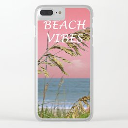 Beach Vibes Clear iPhone Case
