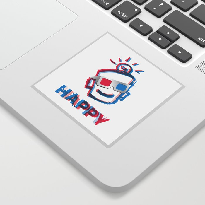3D HAPPY Sticker