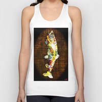 whisky Tank Tops featuring FISH with a side of Bourbon Please by Saundra Myles