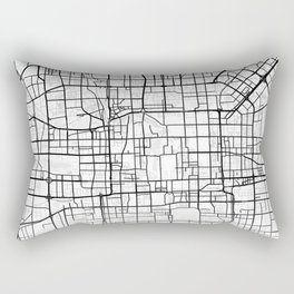 Beijing Light City Map Rectangular Pillow
