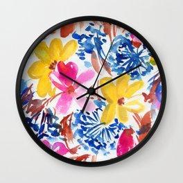 golden garden Wall Clock