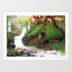 Forest Dragon Art Print