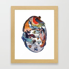 Pokebirds Framed Art Print