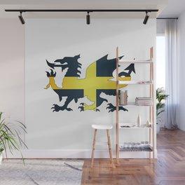 Welsh Dragon Saint David Flag Wall Mural