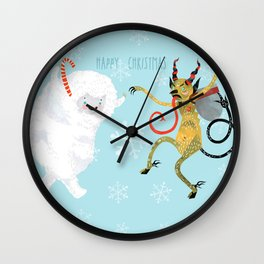 Happy Christmas Wall Clock