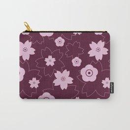 Sakura blossom - burgundy Carry-All Pouch