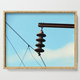 Electricity, electric power lines Serving Tray