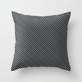 Sharkskin and Black Stripe Throw Pillow