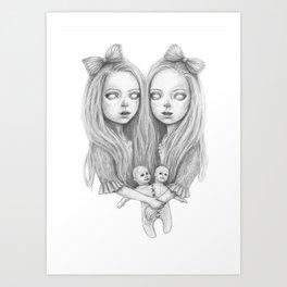 Creepy Twins Art Print