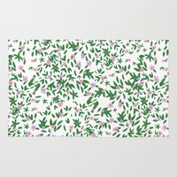 flora Area & Throw Rugs featuring Flora by Maya Bee Illustrations