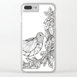 Tree Bird Clear iPhone Case