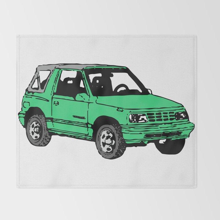 Retro 80s Truck / SUV Throw Blanket