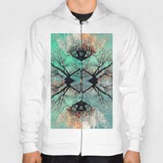 autumn tree-vessel pattern Hoody